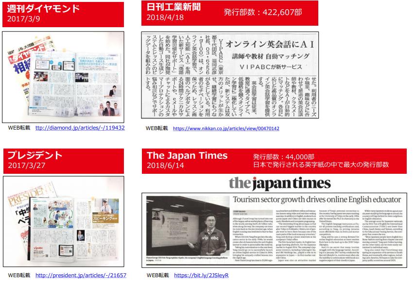 日本でのメディア掲載(紙媒体)