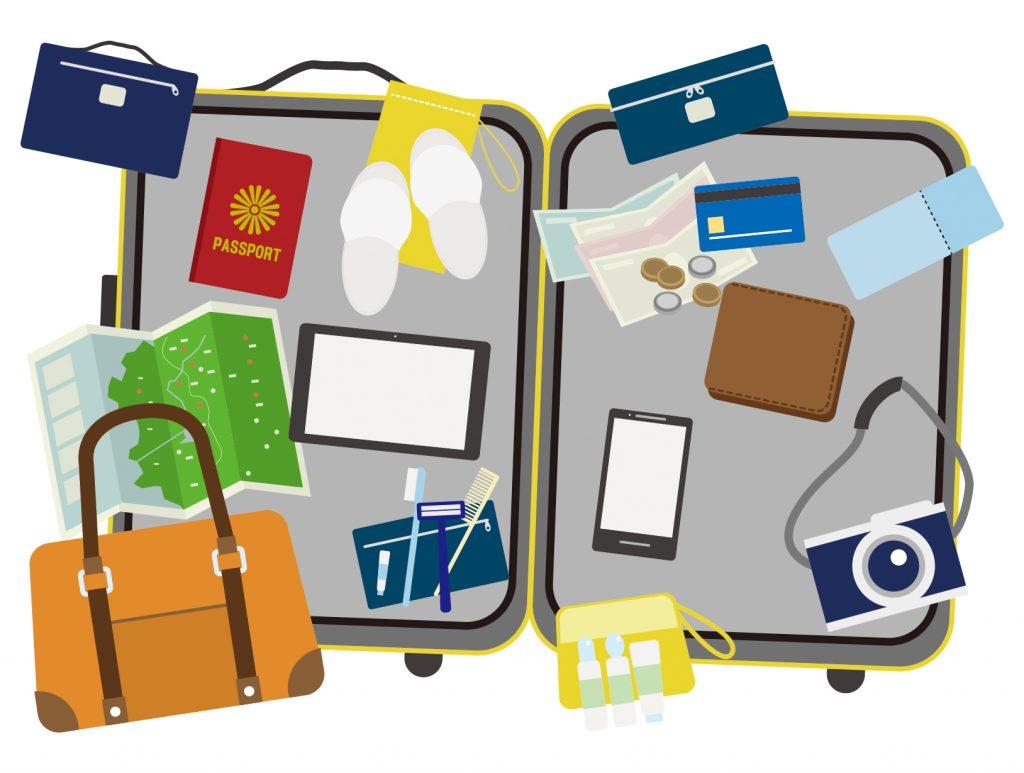 スーツケース 旅行準備